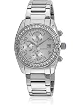 Giordano Analog Silver Dial Women's Watch - GX2657-66