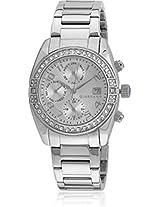 Giordano Analog Silver Dial Women's Watch - GX2657-66