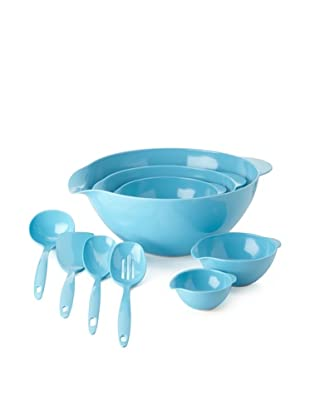 Reston Lloyd 5-Piece Bowl and 4-Piece Utensil Set (Turquoise)