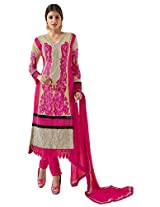 atisundar lovely Beige And Pink Straight Cut with Embroidery and Digital Print- 6449_51_28007