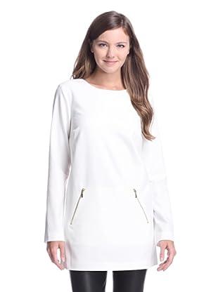 Calvin Klein Women's Zip Pocket Tunic (Eggshell)