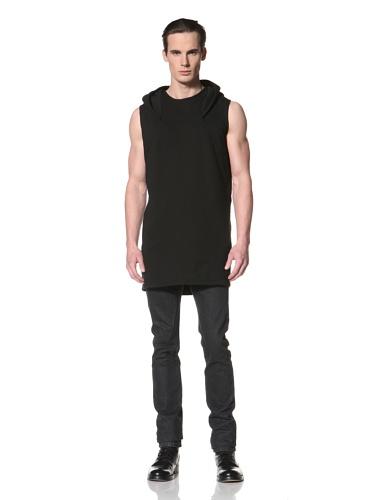 Rick Owens DRKSHDW Men's Hooded Sleeveless Pullover (Black)
