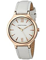 Anne Klein Women's AK/1846RGIV Rose Gold-Tone and Ivory Leather Strap Watch