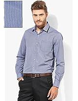 Blue Slim Fit Formal Shirt Arrow