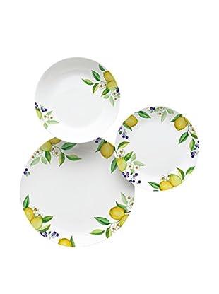Molecuisine Geschirr 18er Set Lemon weiß/gelb 29x29x39 cm