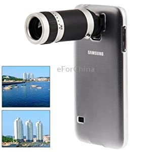 8X Zoom Lens Mobile Phone Telescope + Crystal Case for Samsung Galaxy S5 / G900