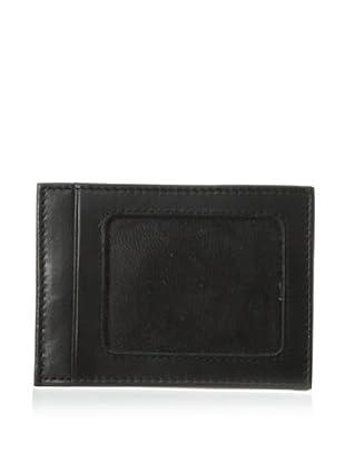 Trafalgar Men's Glove Exterior Money Clip Card Case (Black)