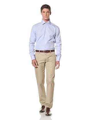 De Corato Men's Dress Shirt (Blue Stripe)