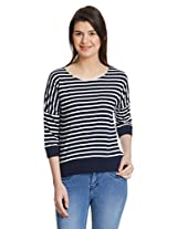 Miss Chase Women's Striped Casual Tee Top