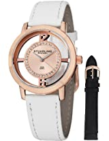 Stuhrling Original Women's 388L2.SET.03 Winchester Tiara 16k Rose Gold-Plated Stainless Steel and Swarovski Crystal Watch with Additional Leather Strap
