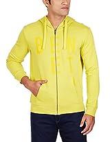 United Colors of Benetton Men's Cotton Sweatshirt (8903975025554_15A3S67J5050I902L_Large_Amber Yellow)