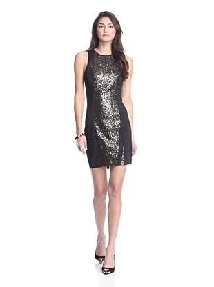 Junk Dresses Women's Let It Shine Ponte Dress (Black/Gold)