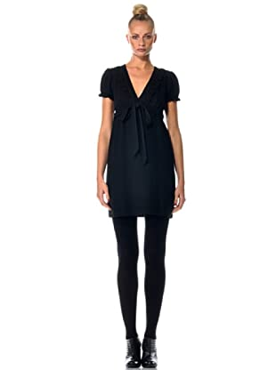 Eccentrica Vestido Escote V (negro)
