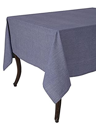 KAF Home Chambray Tablecloth, Navy, 70