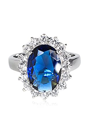CZ by Kenneth Jay Lane 12Cttw Oval Cz Ring Pave Border