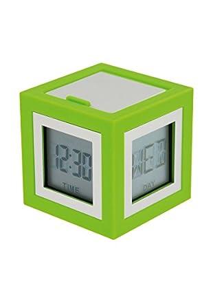 Lexon Cubissimo Clock, Lime