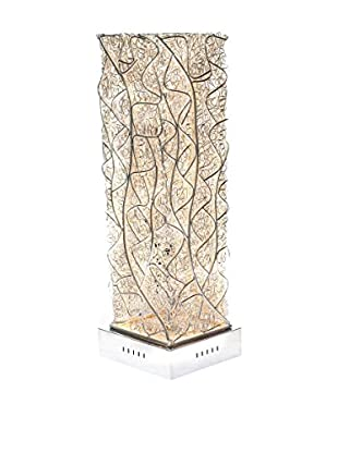Illuminated Décor 4-Light LED Table Lamp, Silver