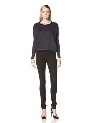 Isabel Lu Women's Easy Fit Sweater (Navy)