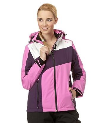 H2O Skijacke (lila/pink/weiß)