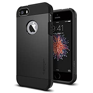 Spigen Tough Armor iPhone 5S / 5 Case with Extreme Heavy Duty Protection and Air Cushion Technology for iPhone 5S / iPhone 5 - Soul Black