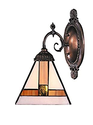 Artistic Lighting Mix-N-Match 1-Light Tiffany Mission Style LED Wall Sconce, Bronze