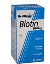 Superfood Healthaid Biotin 800 mcg for hair skin nails for men and women