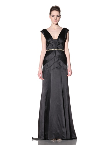 Bibhu Mohapatra Women's Art Deco Satin Gown (Black)