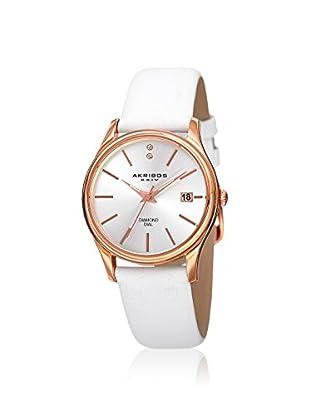 Akribos XXIV Women's AK879WTR Velvet White Leather Watch