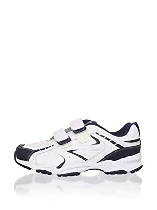 Stride Rite Kid's Contender H&L Athletic Sneaker (Toddler/Little Kid/Big Kid) (White/navy)