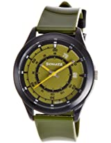 Sonata Analog Green Dial Men's Watch - 77007PP01J