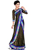 Zoom Embroidered Saree (3183_Black)