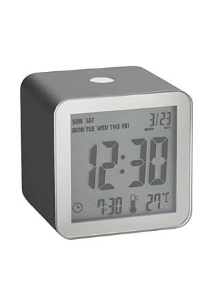 Lexon Cube Sensor Alarm Clock, Gunmetal