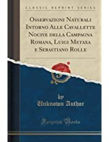 Osservazioni Naturali Intorno Alle Cavallette Nocive Della Campagna Romana, Luigi Metaxa E Sebastiano Rolle (Classic Reprint)