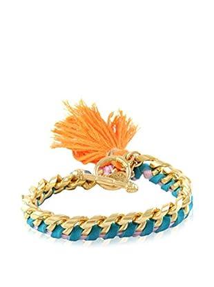 Ettika Blue & 18K Gold-Plated Tassel Your Heart Bracelet