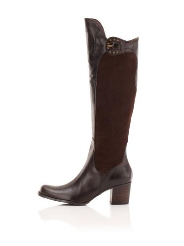 Adrienne Vittadini Women's Hamlet Riding Boot (Brown)