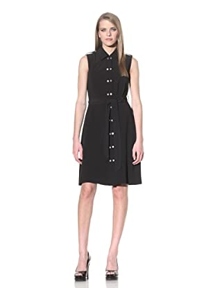 Calvin Klein Women's Sleeveless Shirt Dress (Black)