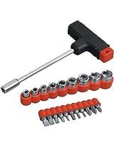 Gauba Traders T-Bar 22Pcs Tool Kit For Home Machine Car Repair Screw Driver Philips Torx Bits