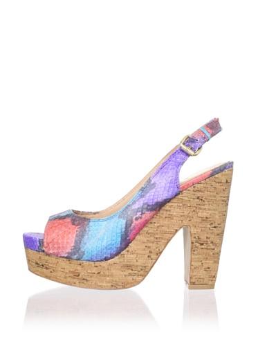 Dolce Vita Women's Maude Platform Sandal (Multi Snake)