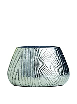 Torre & Tagus Aluminum Bark Vase (Silver)