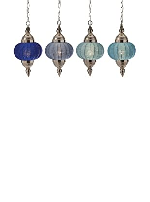 Assorted Set of 4 Chelan Beaded Pendant Lights
