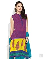 Ombre Hints Kurti-Red-M
