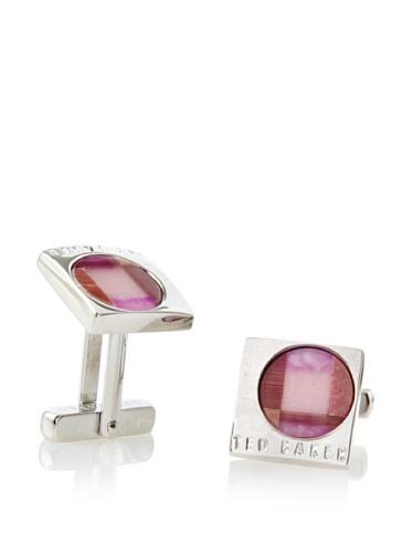 Ted Baker Men's Renee Mosaic Section Cufflinks (Purple)