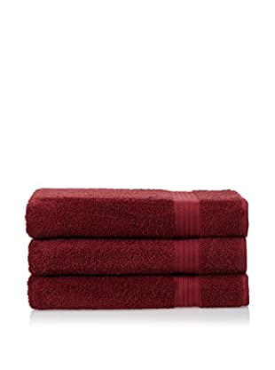 Chortex 3-Piece New Savannah Bath Sheet Set, Claret