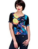 Multi Polyester Crepe Top