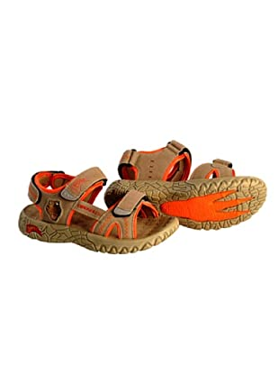 Dinosoles Sandalen T-Rex Head (Hellbraun/Orange)