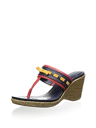 Rockport Women's Delyssa Bow Wedge Sandal (Poppy Red)