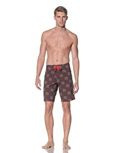Rhythm Men's Flag On Swim Short (Brown)