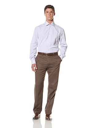 De Corato Men's Dress Shirt (Baby Blue Stripe)