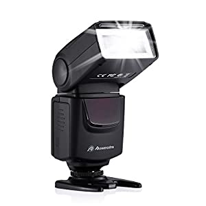 DBK Professional DF-400 Speedlite Camera Flash for Canon Nikon Pentax Samsung Olympus Panasonic Ricoh DSLR Cameras and Digital Cameras with Single-Contact Hotshoe