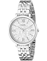 Fossil Womens ES3803 Jacqueline Analog Display Analog Quartz Silver Watch